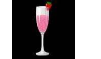 Cóctel de frutilla y champagne