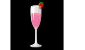 Cóctel de frutillas y champagne